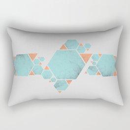 Geometric Hexagons and Triangles Rectangular Pillow