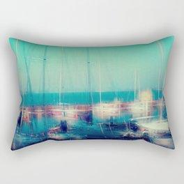 Sailing Harbor at Lake Balaton Rectangular Pillow
