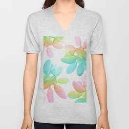 Rainbow Cacti Vibes #1 #pattern #decor #art #society6 Unisex V-Neck