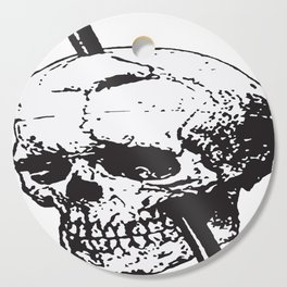Frontal Lobotomy Skull Of Phineas Gage Vector Isolated Cutting Board