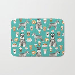Schnauzer coffee dog breed pet art pure breed cafes pupuccino Bath Mat