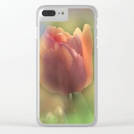 dreamy pastel flowers -8- Clear iPhone Case