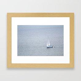 Lonely Sailboat Framed Art Print