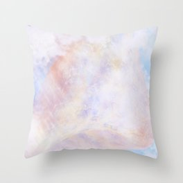 Pastel Organic Spaceship Throw Pillow
