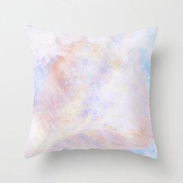 Pastel Organic Spaceship Throw Pillow