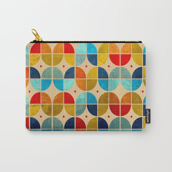 Happy tulips grunge Carry-All Pouch