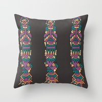 soldier Throw Pillows featuring soldier by aylizabbas