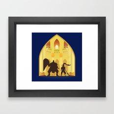 Ornstein and Smough (Dark Souls) Framed Art Print