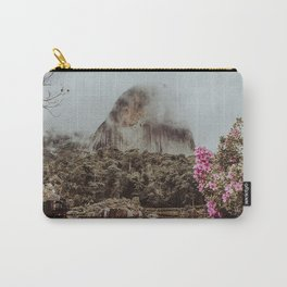 mountain water fog clouds park flowers branches pedra azul brasil Carry-All Pouch
