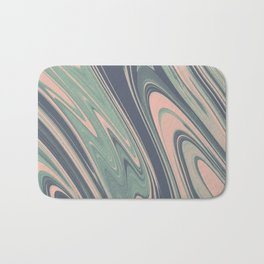 Abstract mauve blue pink turquoise marble Bath Mat