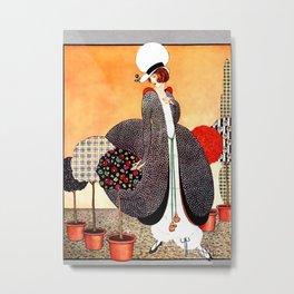 "Art Deco Design ""Fabric Orchard"" Metal Print"
