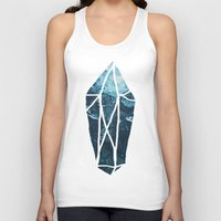 geode Tank Tops featuring Aquamarine Gem Dreams by Leah Flores