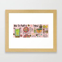 Bee Salad Framed Art Print
