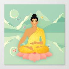Sacred World: Golden Yogi Canvas Print