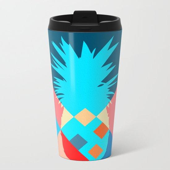 Ananas Metal Travel Mug