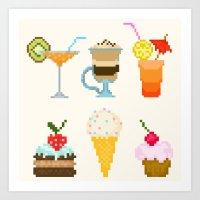 dessert Art Prints featuring Dessert by Valendji
