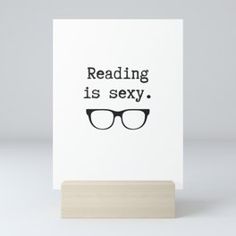 Reading is Sexy Mini Art Print
