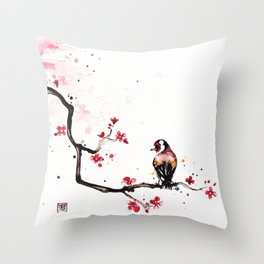"""The tiny wings """"The goldfinch"""" Throw Pillow"""