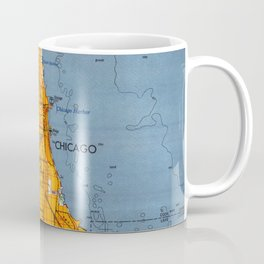 Chicago Colorful Map year 1957 Coffee Mug