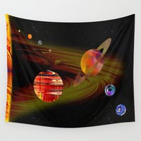 solar system Wall Tapestries featuring solar system I by donphil