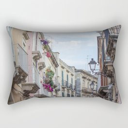 Street in Syracuse, Sicily Rectangular Pillow