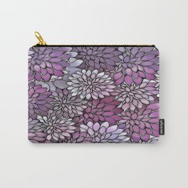 Stain Glass Floral Abstract - Purple-Lavender Carry-All Pouch
