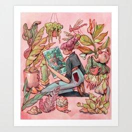 Droste Watercolor - Pink Art Print