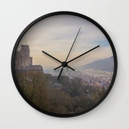 Castle and Town Views Wall Clock