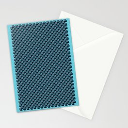 3D Cube Drawing Pattern - Blue & Green Stationery Cards