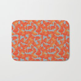 Tumbling Ginkgo Red Bath Mat