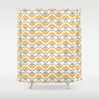 bianca green Shower Curtains featuring Bianca by Just Kate Designs