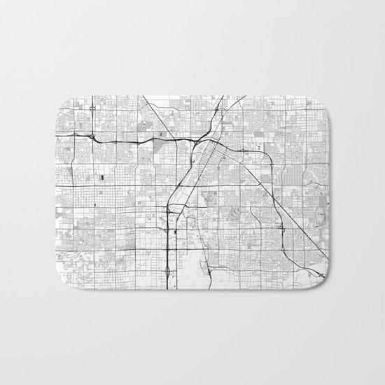 Las Vegas Map Gray Bath Mat