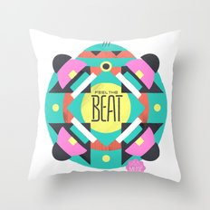 Feel the Beat Throw Pillow