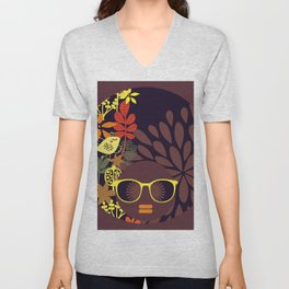 Afro Diva : Sophisticated Lady Deep Unisex V-Neck