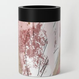 Sugar and Spice: a minimal, abstract mixed-media piece in pink and brown by Alyssa Hamilton Art Can Cooler