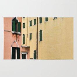 Peach and Yellow Venetian Buildings Rug