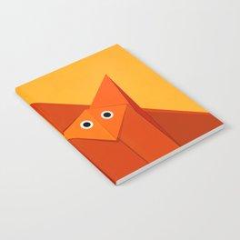 Geometric Cute Origami Fox Portrait Notebook