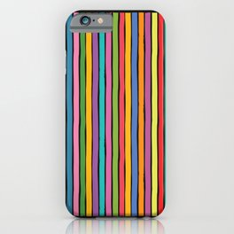 dp203-4 Colorful Stripes iPhone Case
