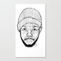 j dilla Canvas Prints featuring J. Dilla by Icon Ink