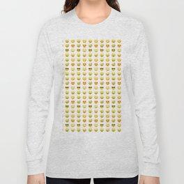 Emoji pattern Long Sleeve T-shirt