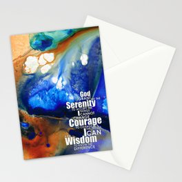Serenity Prayer 4 - By Sharon Cummings Stationery Cards