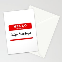 Hello My Name Is Inigo Montoya Stationery Cards