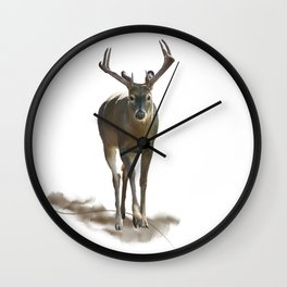 Digital Painting of  Male Deer Wall Clock