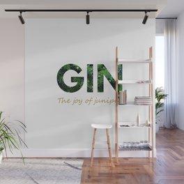 Gin - The joy of juniper Wall Mural