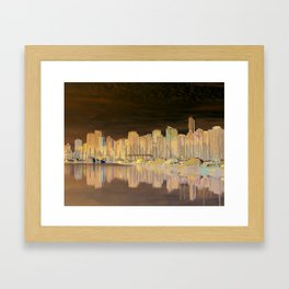 Downtown Vancouver Framed Art Print