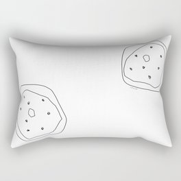 Words from Doughnuts - donut illustration humor quote line art Rectangular Pillow