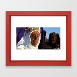 Peter O'Toole and Omar Sharif in the film Lawrence of Arabia (David Lean - 1962) Framed Art Print