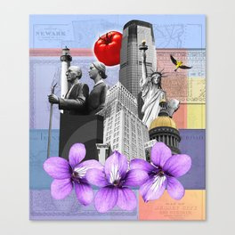 New Jersey Collage Canvas Print