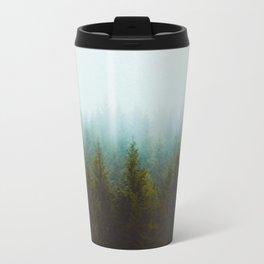 Landscape Pine Forest Green Evergreen Trees Minimalist Simple Landscape Travel Mug