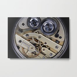 Clockwork mechanism  Metal Print
